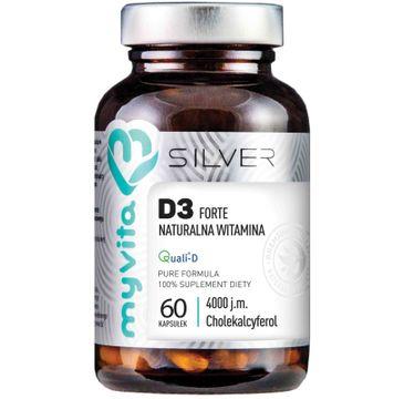 Myvita Silver Witamina D3 Forte 4000IU 100% czysty suplement diety 60 kapsułek