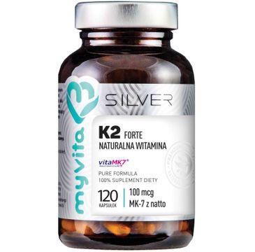 Myvita Silver Witamina K2 Forte 100µg 100% czysty suplement diety 120 kapsułek