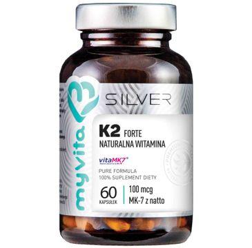 Myvita Silver Witamina K2 MK-7 Forte 100µg 100% czysty suplement diety 60 kapsułek