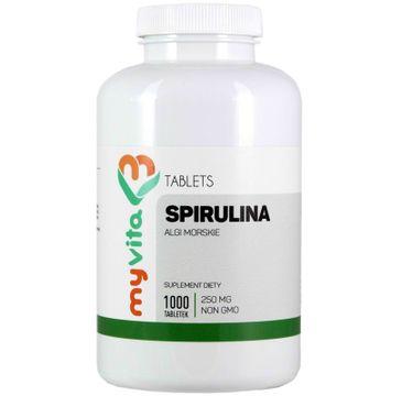 Myvita Spirulina 250mg suplement diety 1000 tabletek