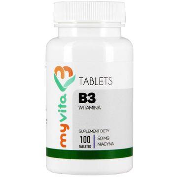 Myvita Witamina B3 50mg suplement diety 100 tabletek