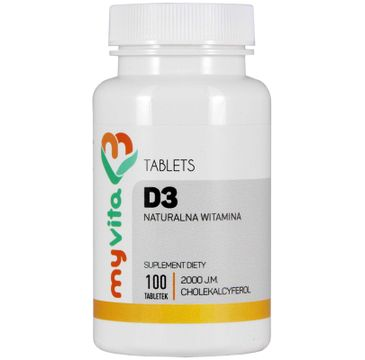Myvita Witamina D3 z Lanoliny 2000IU suplement diety 100 tabletek
