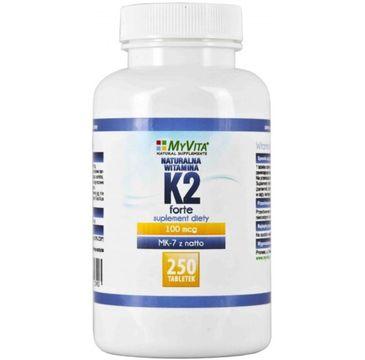 Myvita Witamina K2 Forte + MK-7 z Natto suplement diety 250 tabletek