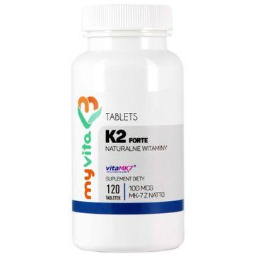 Myvita Witamina K2 MK-7 z Natto 100µg suplement diety 120 tabletek