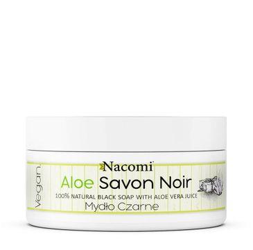 Nacomi Aloe Savon Noir aloesowe czarne mydło z sokiem z aloesu (125 g)