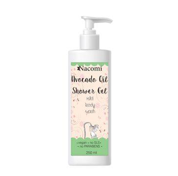 Nacomi Avocado Oil  Shower Gel – żel pod prysznic z olejem awokado (250 ml)
