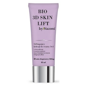 Nacomi Bio 3D Skin Lift – liftingujący koktajl do twarzy 3w1 (85 ml)