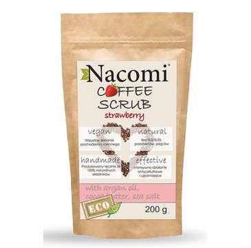 Nacomi Coffee Scrub – peeling kawowy Truskawka (200 g)
