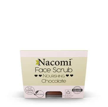 Nacomi Face Scrub Chocolate – peeling nawilżający do twarzy i ust (80 g)