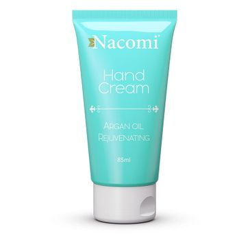 Nacomi Hand Cream Argan Oil Rejuvenating – krem do rąk odmładzający (85 ml)