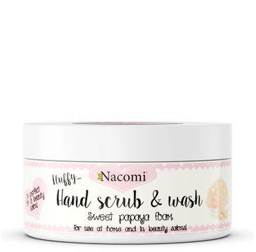 Nacomi Hand Scrub & Wash – pianka peelingująco-myjąca do dłoni Słodka Papaja (135 ml)