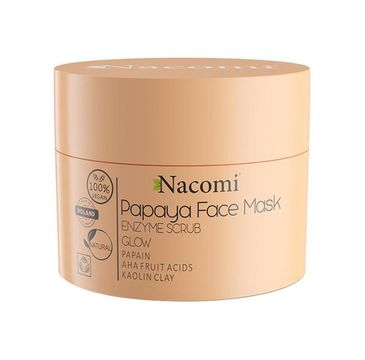 Nacomi – Peelingująca maska enzymatyczna Kwas AHA - Papaya (50 ml)