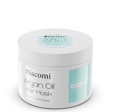 Nacomi Argan Oil Hair Mask – maska do włosów z olejem arganowym i proteinami kaszmiru (200 ml)