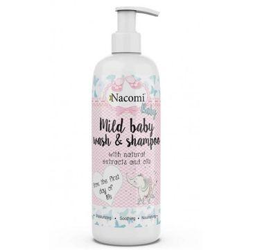 Nacomi Mild Baby Wash & Shampoo – emulsja do mycia dla dzieci (400 ml)