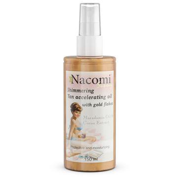 Nacomi – olejek przyspieszający opalanie z drobinkami złota (150 ml)