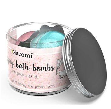 Nacomi Fizzing Bath Bombs – półkula do kąpieli grecko-malinowe (4 szt.)