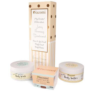 Nacomi – Pomarańczowy Sorbet zestaw masło do ciała 125g + odświeżający peeling do twarzy i ust 85g + peeling do ciała 125g (1 szt.)
