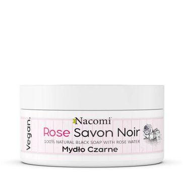 Nacomi Rose Savon Noir różane czarne mydło z wodą różaną (125 g)