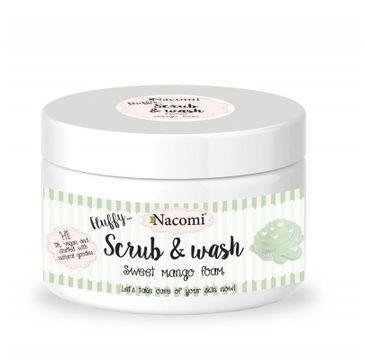 Nacomi Scrub & Wash – pianka peelingująco-myjąca Sweet Mango (180 ml)