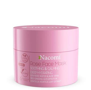 Nacomi Vegan Rose Face Mask Soothing Calming - maska różana łagodząco uspokajająca 50 ml