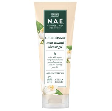 N.A.E Delicatezza Scent-Neutral Shower Gel łagodzący żel pod prysznic z ekstraktem z kwiatu pomarańczy (200 ml)