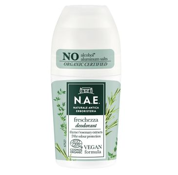 N.A.E Freschezza Deodorant dezodorant w kulce z ekstraktem z rozmarynu i liści organicznego tymianku (50 ml)