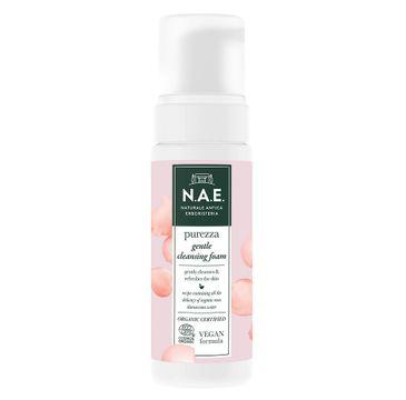 N.A.E Purezza Gentle Cleansing Foam kremowa pianka oczyszczająca z organiczną wodą z róży damasceńskiej (150 ml)