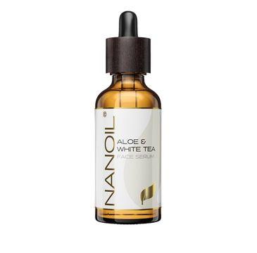 Nanoil Aloe & White Tea serum do twarzy z aloesem i białą herbatą (50 ml)