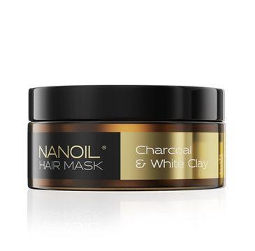 Nanoil Charcoal & White Clay Hair Mask maska do włosów z węglem (300 ml)
