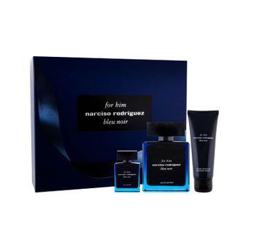 Narciso Rodriguez Bleu Noir zestaw woda perfumowana spray 100ml + woda perfumowana 10 ml + żel pod prysznic 75ml
