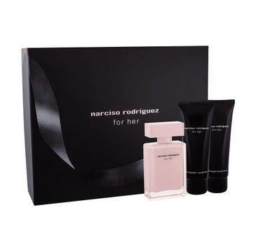 Narciso Rodriguez For Her zestaw woda perfumowana 50ml + żel pod prysznic 75ml + balsam do ciała 75ml