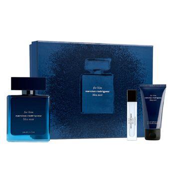 Narciso Rodriguez For Him Bleu Noir zestaw woda perfumowana spray 100ml + woda perfumowana spray 10ml + żel pod prysznic 50ml