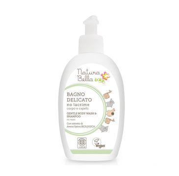 Natura Bella Baby – delikatny płyn do kąpieli i szampon 2w1 dla dzieci (300 ml)