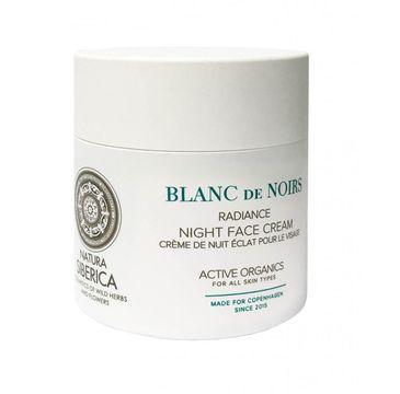 Natura Siberica Blanc De Noirs Radiance Night Face Cream rozświetlający krem do twarzy na noc 50ml