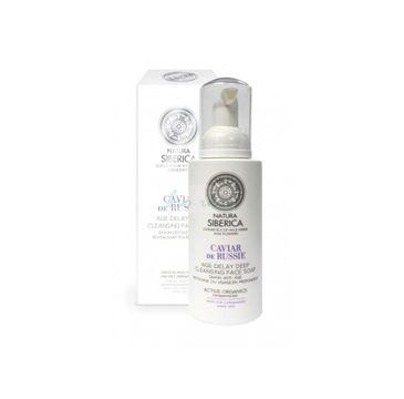 Natura Siberica Caviar De Russie Age-Delay Deep Cleansing Face Soap odmładzające mydło oczyszczające do mycia twarzy 175ml
