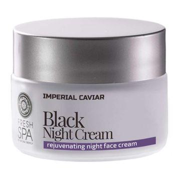 Natura Siberica Fresh Spa Black Night Cream czarny krem odmładzający na noc 50ml
