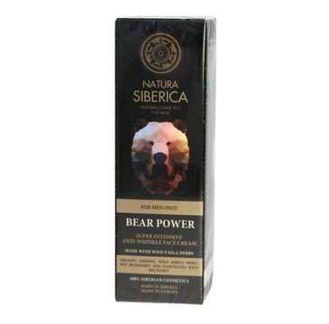 Natura Siberica Men krem do twarzy przeciwzmarszczkowy dla mężczyzn Moc Niedźwiedzia 50 ml