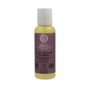 Natura Siberica Ochrona i Połysk szampon do włosów farbowanych i zniszczonych 50 ml