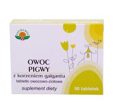 Natura Wita Owoc Pigwy z korzeniem galgantu tabletki owocowo-ziołowe suplement diety 90 tabletek