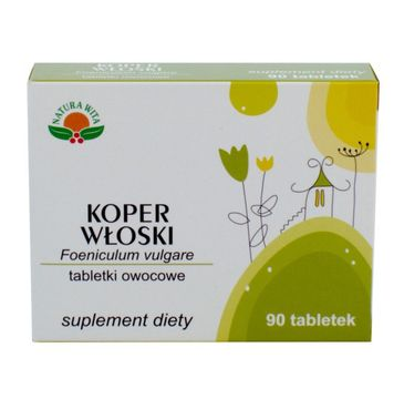 Natura Wita Tabletki Owocowe Koper Włoski suplement diety 90 tabletek