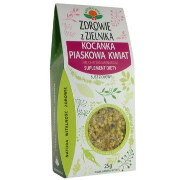 Natura Wita Zdrowie z Zielnika Kocanka Piaskowa Kwiat susz ziołowy suplement diety 25g