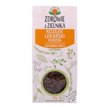 Natura Wita Zdrowie z Zielnika Kozłek Lekarski Korzeń szusz ziołowy suplement diety 50g