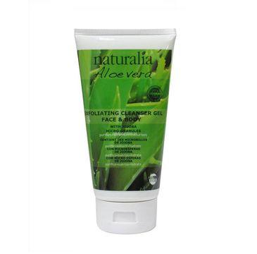Naturalia Aloe Vera Exfoliating Cleanser Gel Face & Body złuszczający żel do mycia twarzy i ciała 200ml
