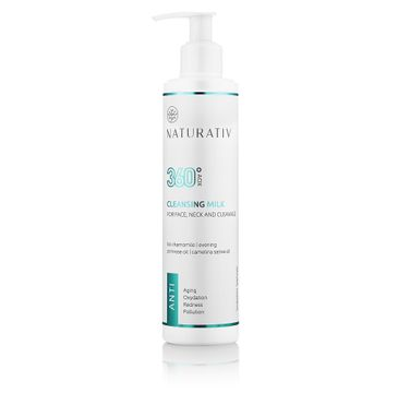 Naturativ 360 AOX Cleansing Milk For Face Neck & Cleavage mleczko do demakijażu do twarzy szyi i dekoltu 250ml
