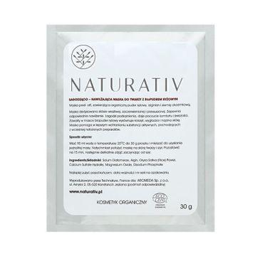 Naturativ Face Mask With Rice Bio-Powder łagodząco-nawilżająca maska do twarzy z bio-pudrem ryżowym 30g