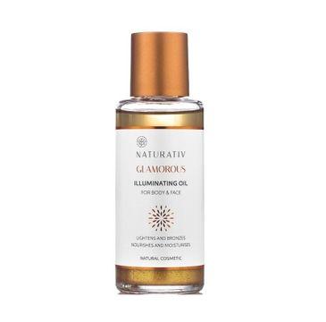 Naturativ Glamorous Illuminating Oil For Body & Face olejek rozświetlający do ciała i twarzy 100ml