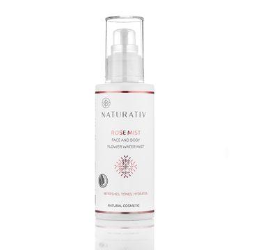 Naturativ Rose Mist Face & Body Flower Water Mist wodna mgiełka do ciała Róża 100ml