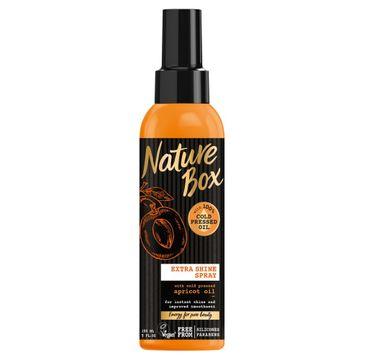Nature Box Apricot Oil spray do włosów nadający połysk 150 ml