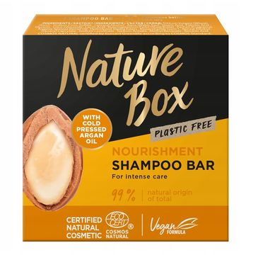 Nature Box Nourishment Shampoo Bar odżywczy szampon do włosów w kostce z olejkiem arganowym (85 g)