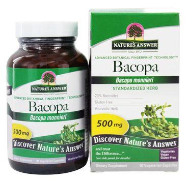 Nature's Answer Bacopa ekstrakt z ziela Bakopy drobnolistnej suplement diety 90 kapsułek